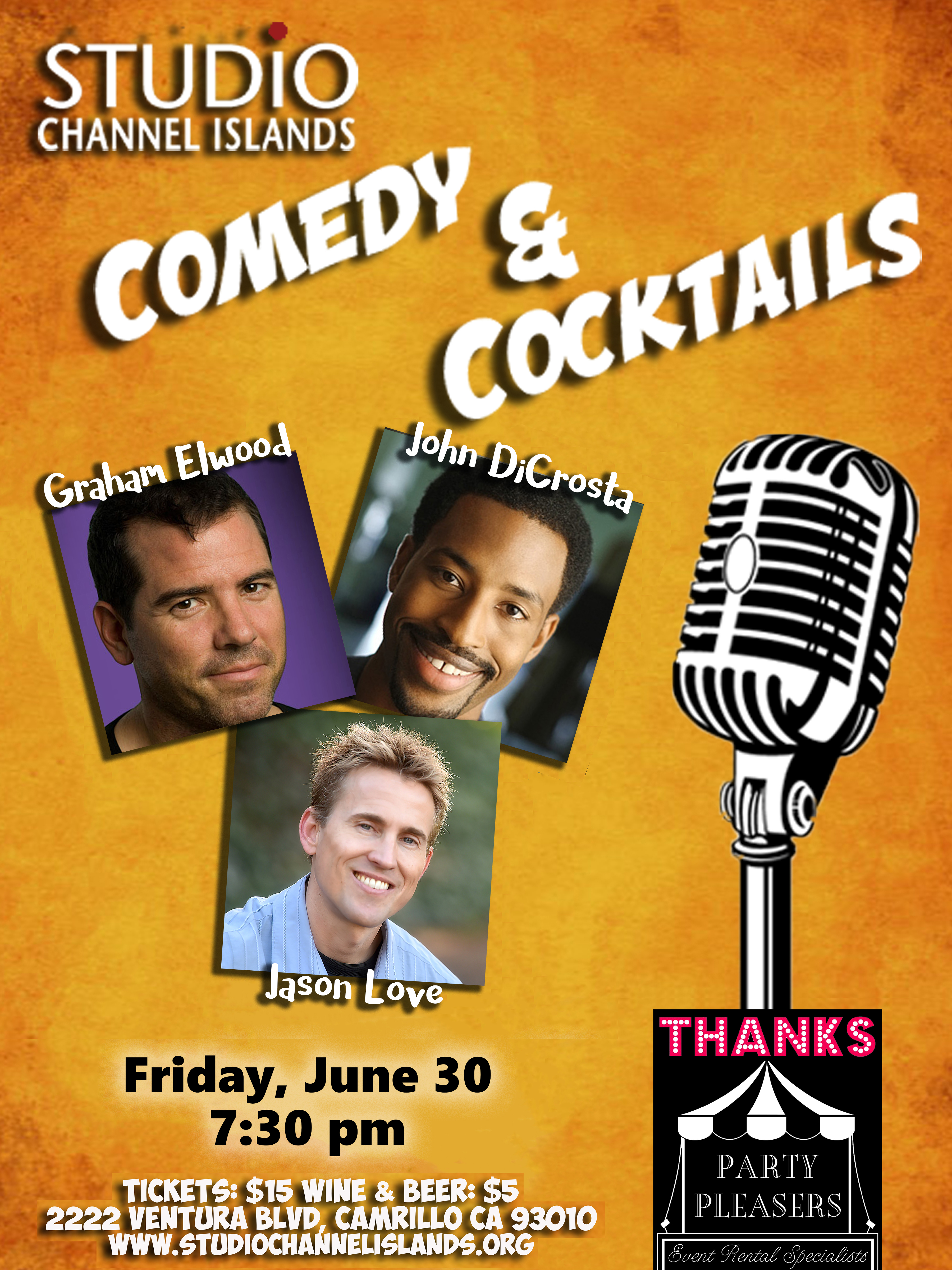 170630 comedy and cocktails with party pleasers